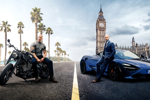 Hobbs And Shaw 5k Poster Wallpaper