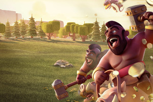 Hog Rider Clash Of Clans Wallpaper
