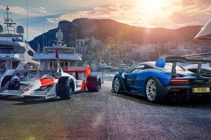 Honda F1 And Mclaren Senna 5k Wallpaper