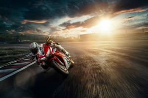 Honda Motorcycle Track Bike Wallpaper