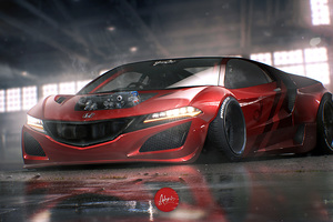 Honda NSX Hybrid Electric Wallpaper