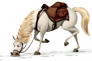 Horse In Tangled Wallpaper