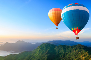 Hot Air Balloon 4k
