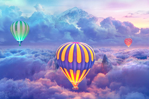 Hot Air Balloons Creative Photography Wallpaper