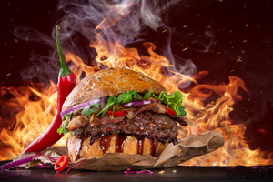 Hot Spicy Burger Wallpaper