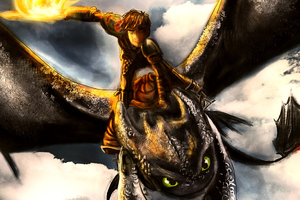 How To Train Your Dragon Fanart Speedpaint Wallpaper