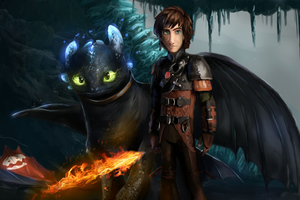 How To Train Your Dragon The Hidden World Art Wallpaper
