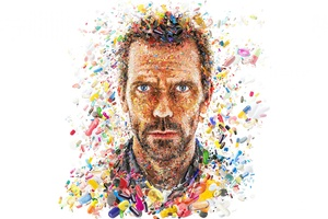 Hugh Laurie In House Tv Show Abstract Artwork 8k Wallpaper