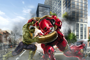 Hulk And Hulkbuster Wallpaper