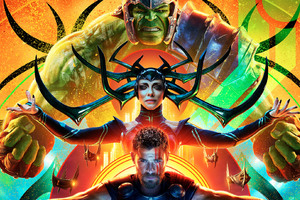 Hulk Hela Thor In Thor Ragnarok Wallpaper