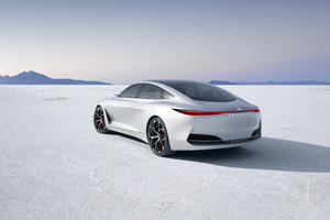 Infiniti Q Inspiration Concept Car Rear Side 2018