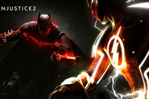 Injustice 2 Fanart Poster Batman Vs Flash 4k