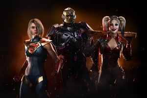 Injustice 2 Supergirl Harley Quinn 4k