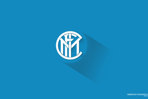 Inter Milan Material Design Logo 5k Wallpaper
