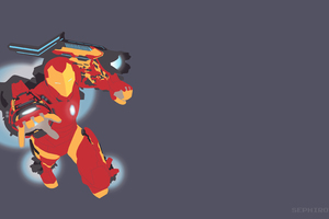 Invincible Iron Man Mk 51 Vector Wallpaper