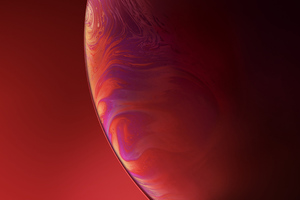 IPhone XR Double Bubble Red Wallpaper