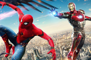 Iron Man And Spiderman In Spiderman Homecoming 4k Hd