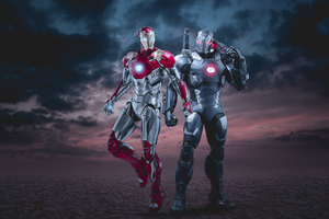 Iron Man And War Machine 4k Wallpaper