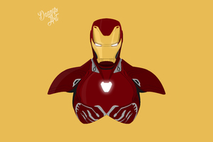 Iron Man Avengers Infinity War 2018 Minimalism 8k Wallpaper