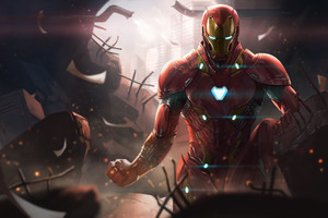 Iron Man Avengers Infinity War Digital Art