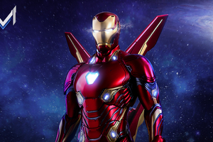 Iron Man Avengers Infinity War Suit Artwork Wallpaper