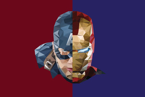 Iron Man Captain America Abstract Wallpaper