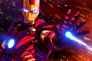 Iron Man Colorful Glowing Art