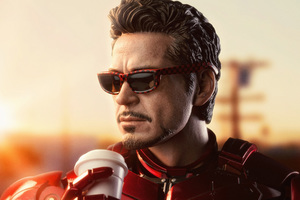 Iron Man Drinking Coffee Wallpaper