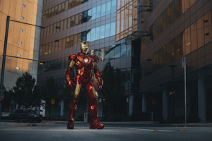 Iron Man In City Wallpaper