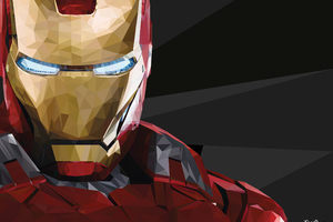 Iron Man Low Poly Wallpaper