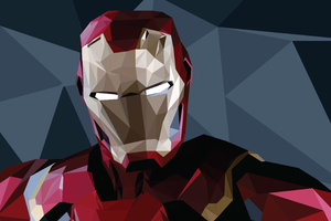 Iron Man Low Poly Arts