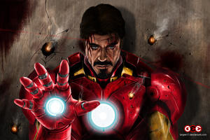 Iron Man Never Give Up Wallpaper