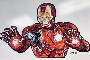 Iron Man Sketch Fan Art