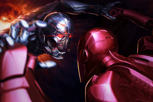 Iron Man Vs Thanos Wallpaper