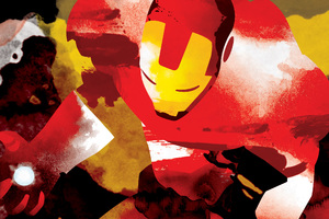 Iron Man Watercolor Art