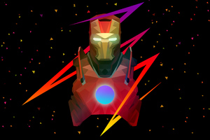 Ironman Low Poly Art