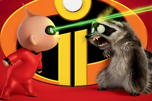Jack Jack Parr And Raccoon In The Incredibles 2