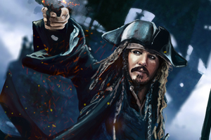 Jack Sparrow 5k Artwork Wallpaper