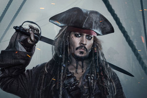 Jack Sparrow In Pirates Of The Caribbean Dead Men Tell No Tales 4k Wallpaper