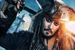 Jack Sparrow In Pirates Of The Caribbean Dead Men Tell No Tales Movie Wallpaper