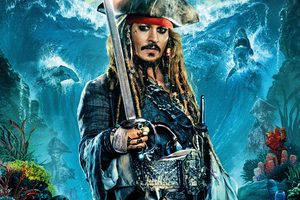 Jack Sparrow In Pirates Of The Caribbean Dead Men Tell No Tales Wallpaper
