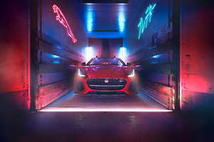 Jaguar F Type 2018 Front View 4k