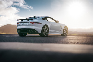 Jaguar F Type SVR Coupe 2018 Rear 4k Wallpaper