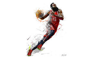 James Harden 5k Art Wallpaper