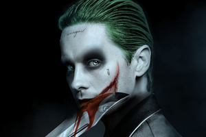 Jared Leto Joker Artwork Wallpaper
