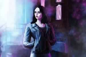 Jessica Jones In Defenders Artwork Wallpaper