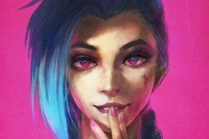Jinx League Of Legends Painting