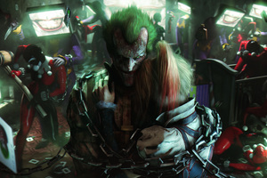 Joker And Harley Quinn Fan Art Wallpaper