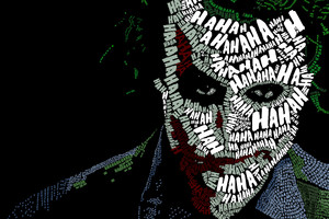 Joker Face Text Artwork Wallpaper