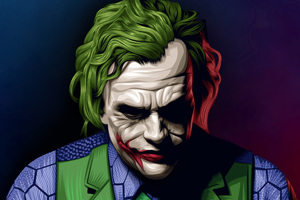 Joker Heath Ledger Illustration Wallpaper